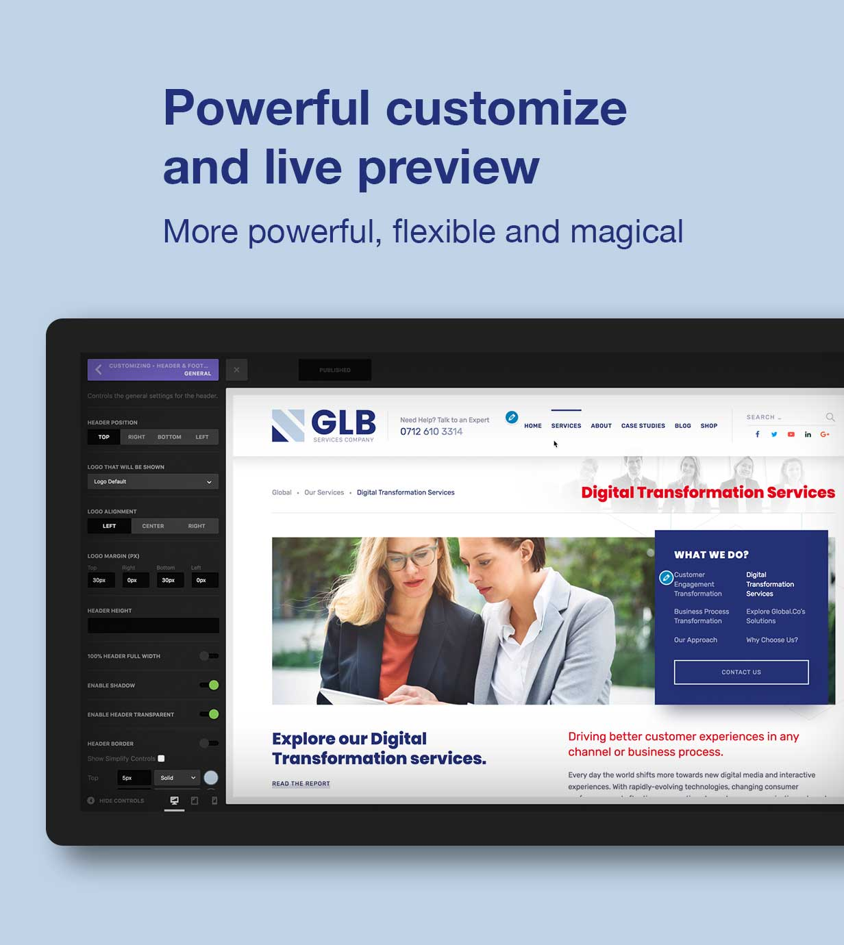 Glb - Responsive Multi-purpose WordPress Theme - 2