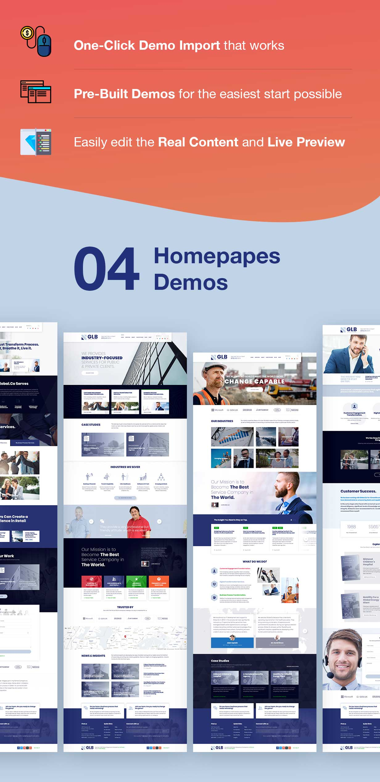 Glb - Responsive Multi-purpose WordPress Theme - 3