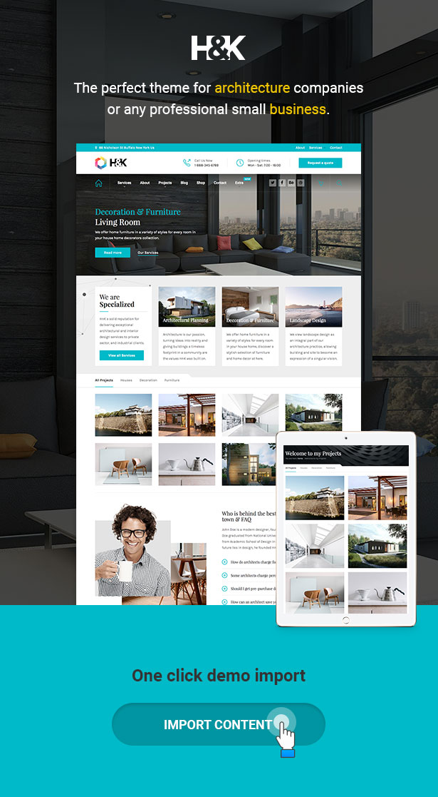 Hnk - Architecture Business WordPress Theme - 1