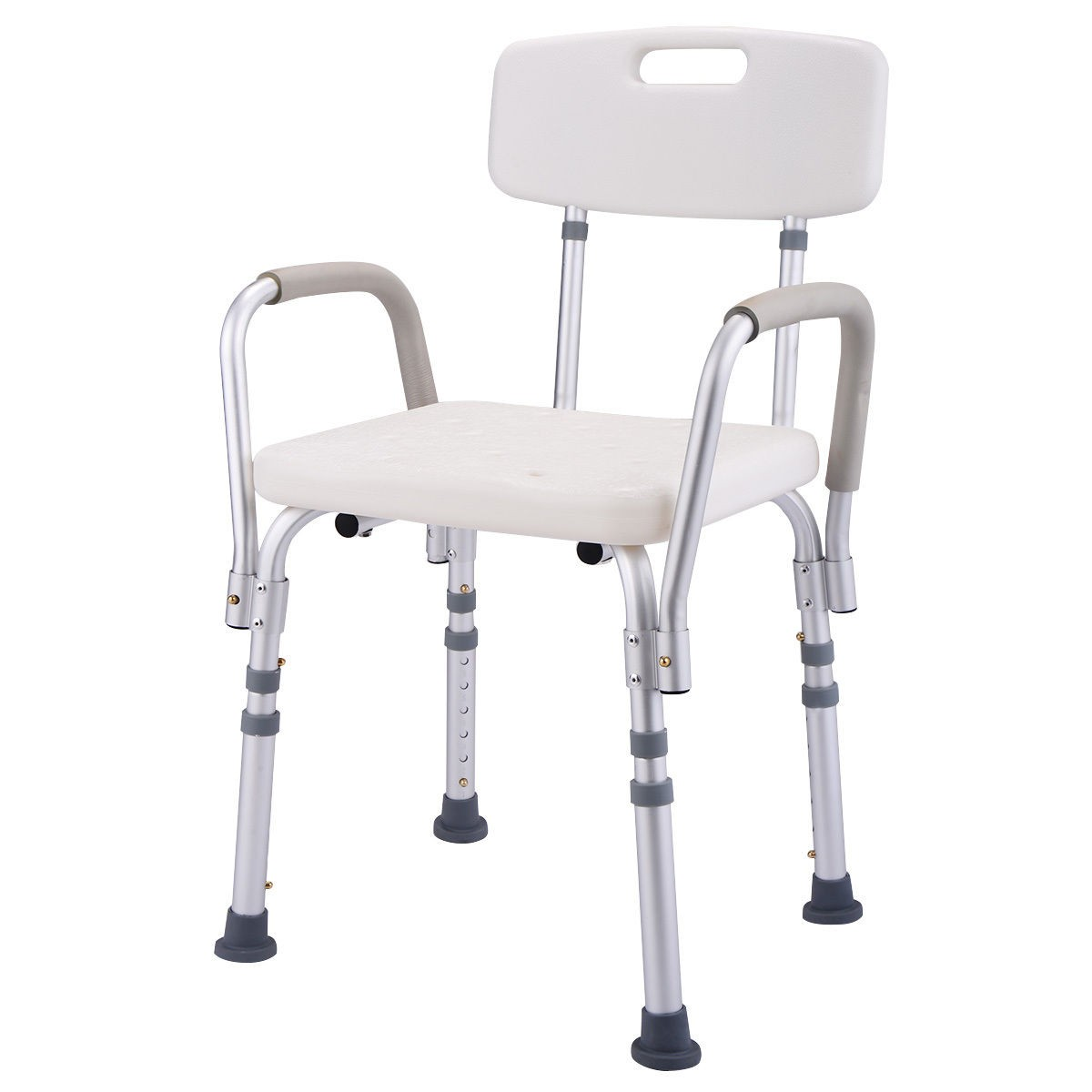 6 Height Adjustable Medical Shower Chair Stool Nanocare